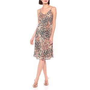 NWOT PAIGE Cicely Leopard Silk Slip Dress, Sz M
